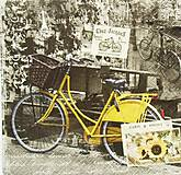 - S1263 - Servítky - bike, bicykel, retro, Amsterdam, slnečnica - 9893032_