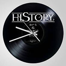 Hodiny - HISTORY PUB - vinylové hodiny (vinyl clocks) - 9892993_