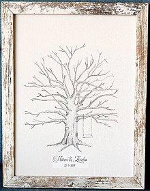 Obrazy - Svadobný strom v Provence ráme na odtlačky, kniha hostí - 9893164_