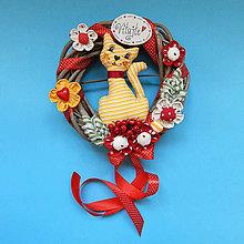 Dekorácie - Veniec na dvere - Naša Mačka ♥2 - 9894397_