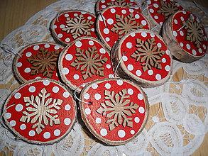 Dekorácie - Vianočné ozdoby - vločky. - 9895190_