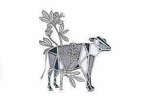 Odznaky/Brošne - brož Geometrická kráva - 9892357_