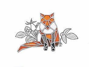 Odznaky/Brošne - brož Geometrická liška - 9892378_
