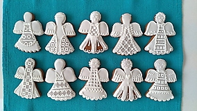 Dekorácie - Perníkový anjel - 9893954_