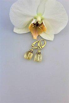 Náušnice - citrínové náušnice luxusné v striebre - 9894987_