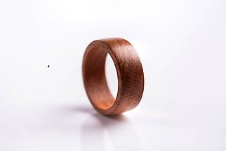 Prstene - Drevený prsteň - slivka - 9893407_