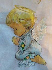 Košele - Košieľka na krst s anjelikom.. - 9892464_