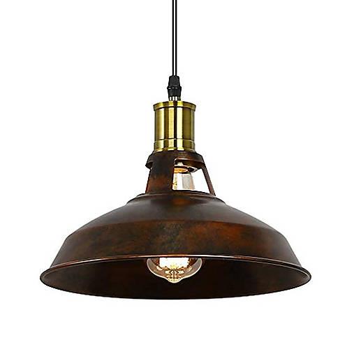 Retro visiace svietidlo v hrdzavej farbe, 27 cm