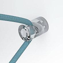 Iný materiál - Decentralizér – stropný alebo nástenný háčik pre textilné káble, transparentný - 9894714_
