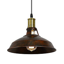 Svietidlá a sviečky - Retro visiace svietidlo v hrdzavej farbe, 27 cm - 9894950_