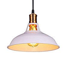 Svietidlá a sviečky - Retro visiace svietidlo v bielej farbe, 27 cm - 9894964_