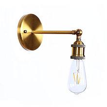 Svietidlá a sviečky - Retro nástenné svietidlo, zlatá farba - 9895041_