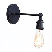 Svietidlá a sviečky - Retro nástenné svietidlo, čierna farba - 9895055_