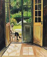 Obrazy - ,,Pred dverami,, - 9894567_