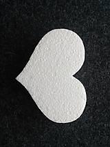 Polotovary - polstyrénové srdce 13cm - 9892905_