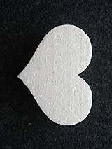 Polotovary - polystyrénové srdce 15cm - 9892912_