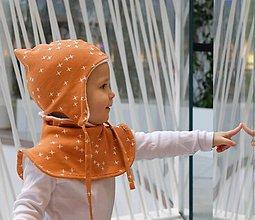 Detské čiapky - Zimný nákrčník z biobavlny s barančekom - 9895217_