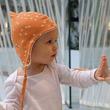 Detské čiapky - Zimná čiapka z biobavlny - 9895223_