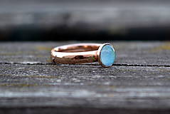 Prstene - Opál prsteň Ag 925 pozlátený - 9894132_