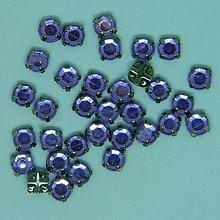 Iný materiál - Štrasové kamienky kruhové 5 mm plastové (svetlofialová) - 9895628_