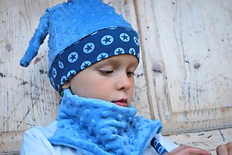 Detské súpravy - Detská čiapka + nákrčník - 9895347_