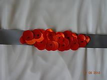 Opasky - Opasok oranžové kvetinky - 9894250_