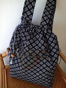 Iné tašky - Ruksak z modrotlače - 9894102_