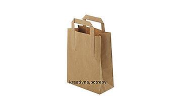 Obalový materiál - Papierová taška hnedá 18x8x22cm - 9892939_
