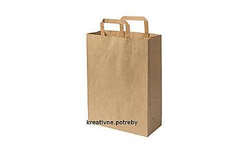 Obalový materiál - Papierová taška hnedá 26x10x33cm, ihneď - 9892962_