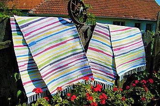 Úžitkový textil - Tkaný koberec pestrofarebný 4 - 9892997_