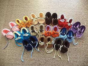 Topánočky - Jednoduché rastúce papučky - 9896114_