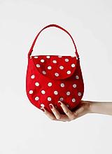 Kabelky - Kabelka Betty červená s bodkami - 9895910_