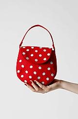 Kabelky - Kabelka Betty červená s bodkami - 9895912_