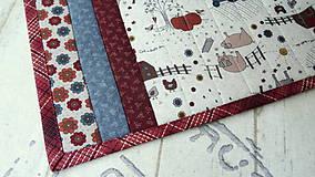 Úžitkový textil - Na dedine ... prestieranie 2 ks - 9898182_