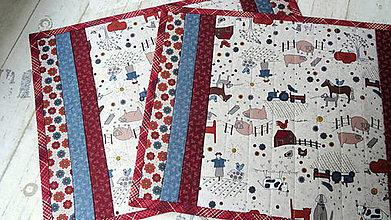 Úžitkový textil - Na dedine ... prestieranie 2 ks - 9897421_