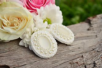 Náušnice - Svadobné náušnice White Love + Dárková krabička - 9898778_
