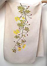 Úžitkový textil - Obrus na stôl-štóla-ručne maľovaná-jesenná - 9897363_