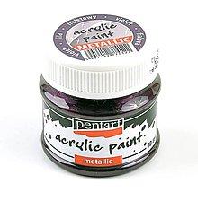 Farby-laky - Akrylová farba 50 ml, Pentart - metalická (fialová) - 9896707_