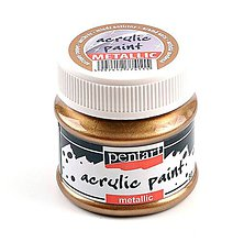 Farby-laky - Akrylová farba 50 ml, Pentart - metalická - 9896727_