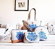 - Veľká maľovaná ľanová taška na zákazku - 9896625_