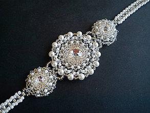Náramky - Náramok Rebeka - Swarovski/svadobný - 9896750_