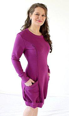 Tehotenské/Na dojčenie - 3v1 dojčiace TEPLÉ šaty, veľ. XS-M - viac farieb v ponuke - 9895965_