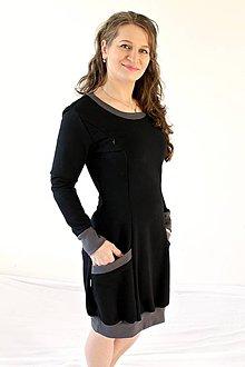 Tehotenské/Na dojčenie - 3v1 dojčiace TEPLÉ šaty, veľ. L-XL - viac farieb v ponuke - 9895988_