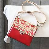 - Kožená kabelka (ručne maľovaná Líštičky) - 9896086_