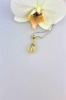 Náhrdelníky - citrín prívesok v striebre - 9896075_