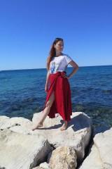 Sukne - Zavinovacia bambusová sukňa - 9896633_