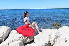 Sukne - Zavinovacia bambusová sukňa - 9896634_