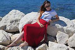 Sukne - Zavinovacia bambusová sukňa - 9896636_