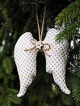 Dekorácie - Anjelské krídlo na stromček - 9896704_