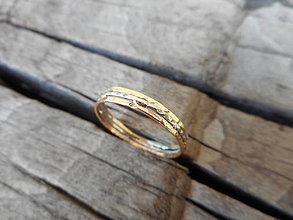 Prstene - Trojfarebný tepaný - 9896923_